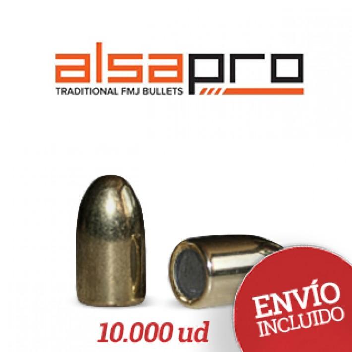 Puntas Alsa Pro FMJ 9mm (.355) - 124 gr 10.000 unidades