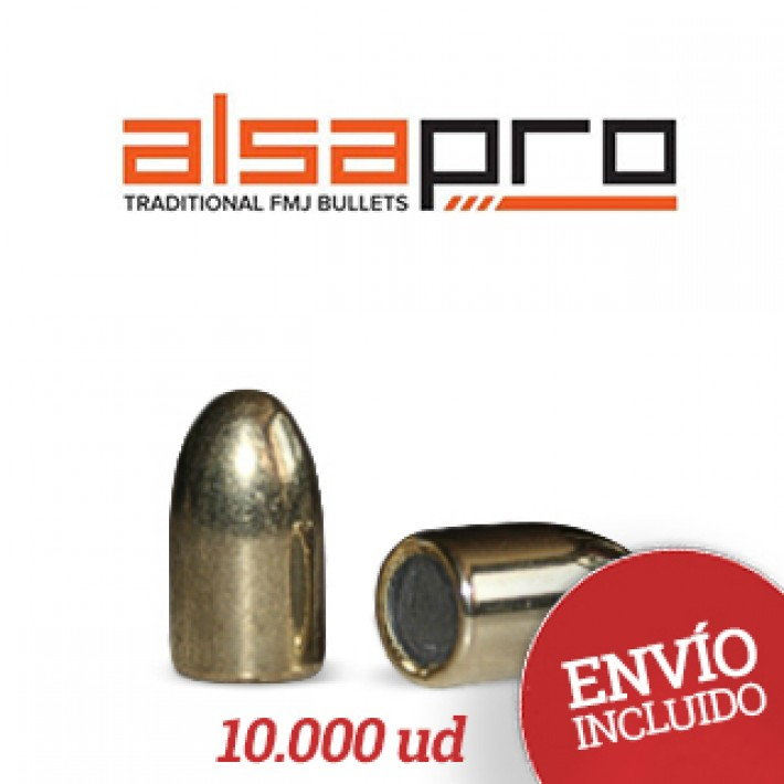 Puntas Alsa Pro FMJ 9mm (.355) - 140 gr 10.000 unidades