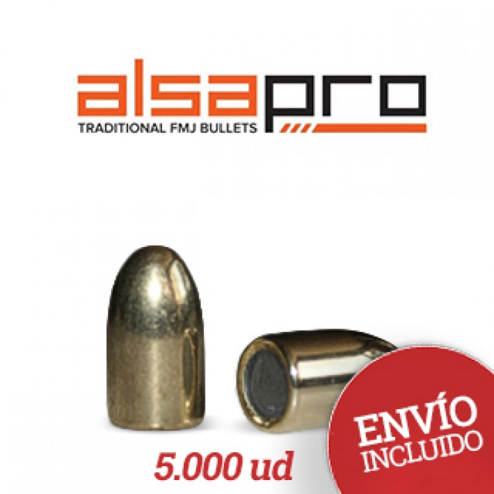 Puntas Alsa Pro FMJ 9mm (.355) - 140 gr 5.000 unidades