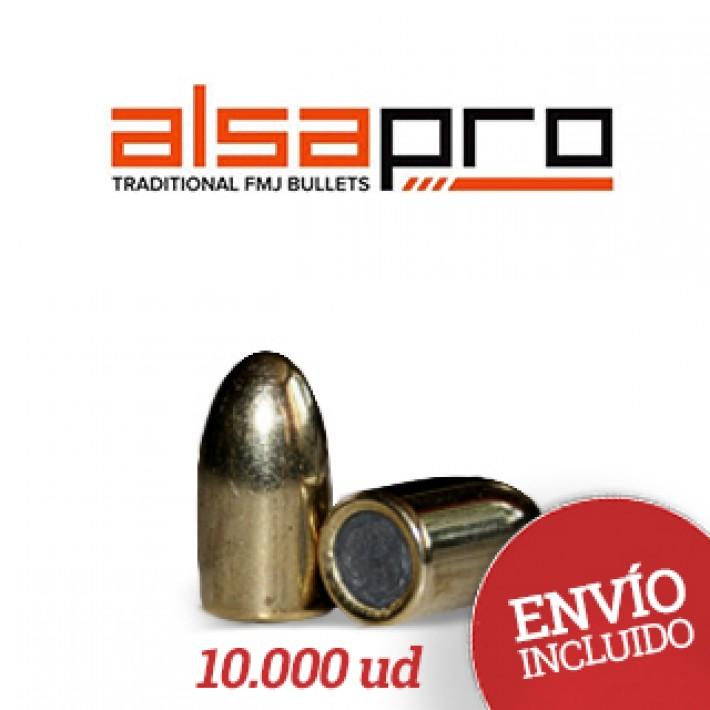 Puntas Alsa Pro FMJ 9mm (.355) - 158 gr 10.000 unidades