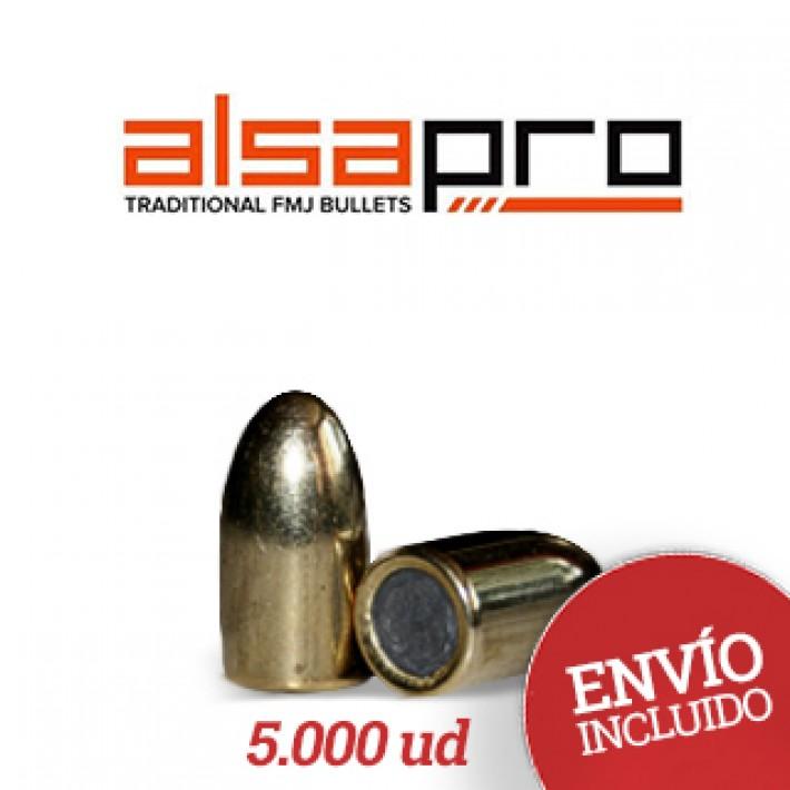 Puntas Alsa Pro FMJ 9mm (.355) - 158 gr 5.000 unidades