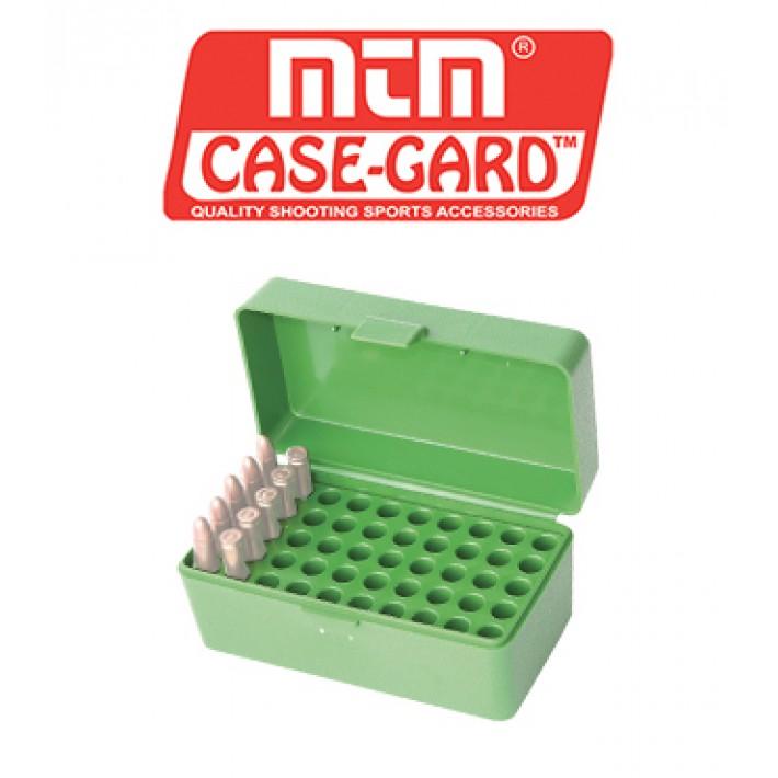 Caja para munición MTM R50 Flip Top para 50 cartuchos - 22