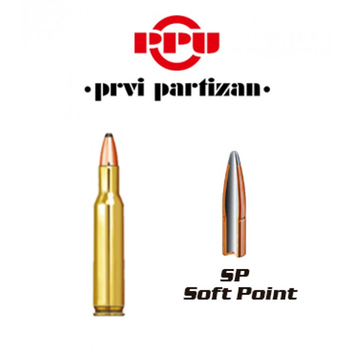 Cartuchos Prvi Partizan .222 Remington 50 grains SP