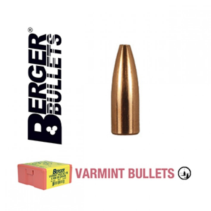 Puntas Berger FB Varmint calibre .224 - 52 grains 1000 unidades