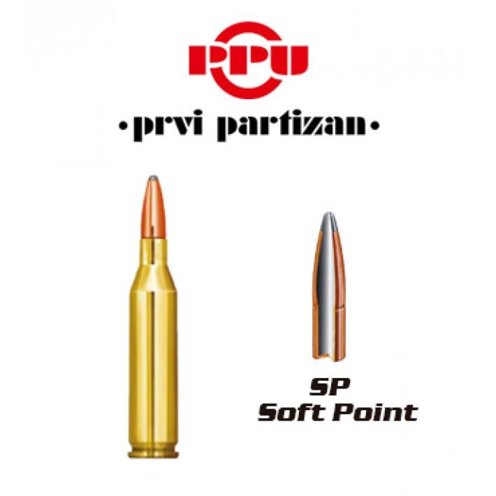 Cartuchos Prvi Partizan .243 Winchester 100 grains SP