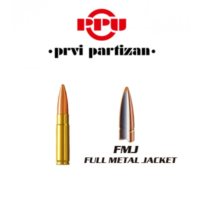 Cartuchos Prvi Partizan .300 AAC Blackout 125 grains FMJ