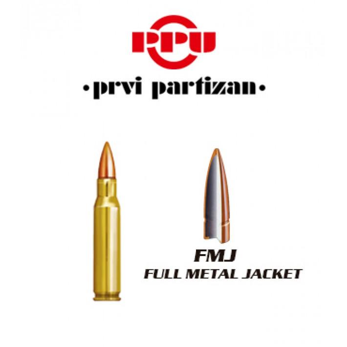 Cartuchos Prvi Partizan .308 Winchester 123 grains FMJ