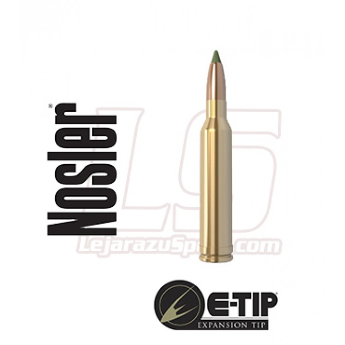 Cartuchos Nosler E-Tip Lead Free 7mm Remington Magnum 150 grains E-Tip