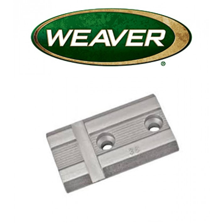Base Weaver Top Mount de aluminio - 48003