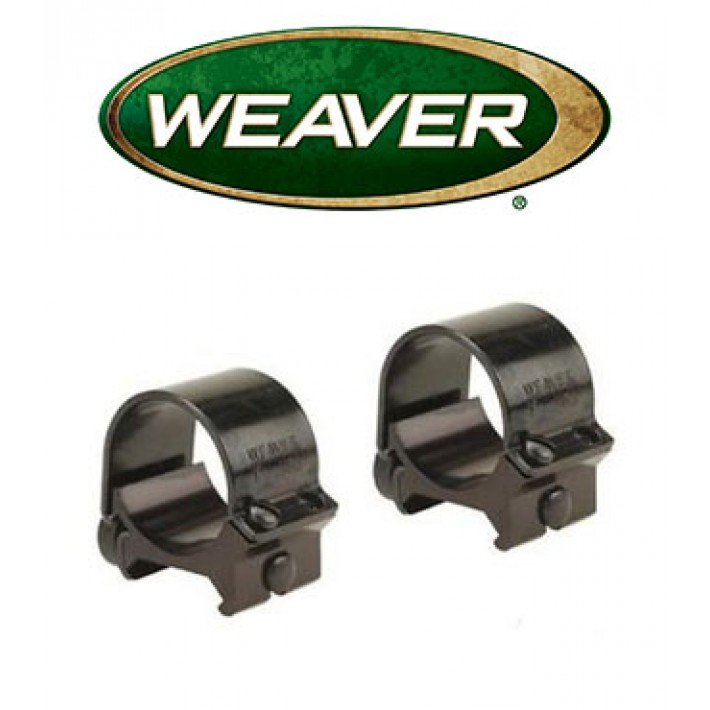 "Anillas desmontables Weaver Top Mount de 1"" mate - Medias"