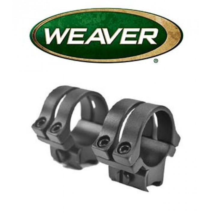 """Anillas desmontables Weaver Quad Lock de 1"""" mate - Medias - Carril 11mm"""