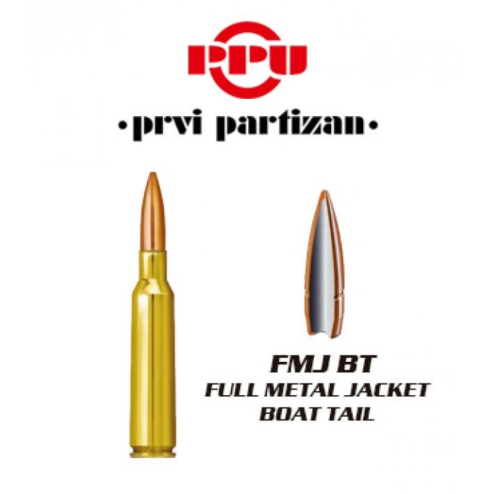Cartuchos Prvi Partizan 6.5x55 Sueco 139 grains FMJBT