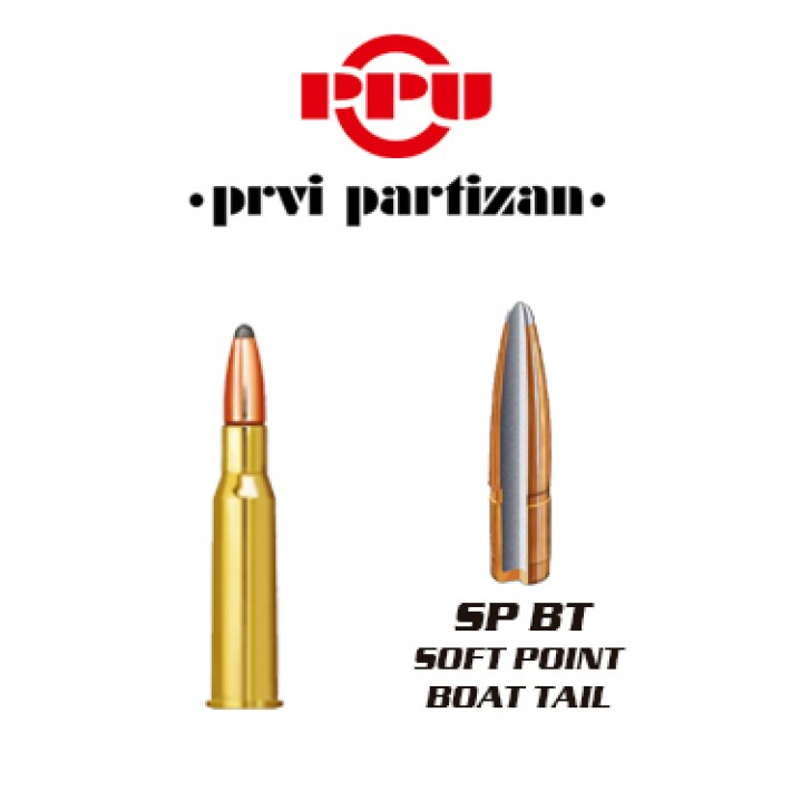 Cartuchos Prvi Partizan 7.62x54 R 180 grains SP BT
