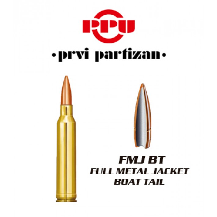 Cartuchos Prvi Partizan 7mm Remington Magnum 175 grains FMJBT