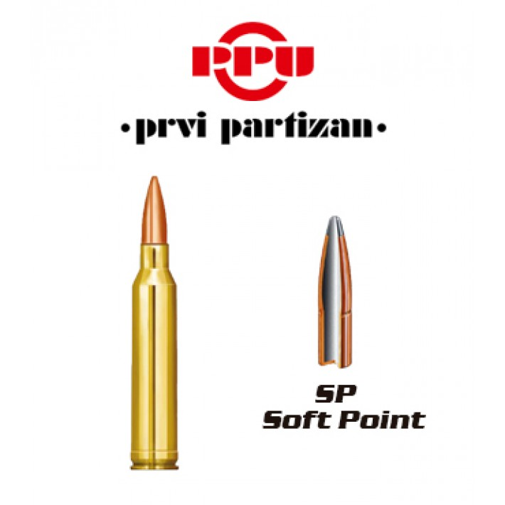 Cartuchos Prvi Partizan 7mm Remington Magnum 174 grains SP
