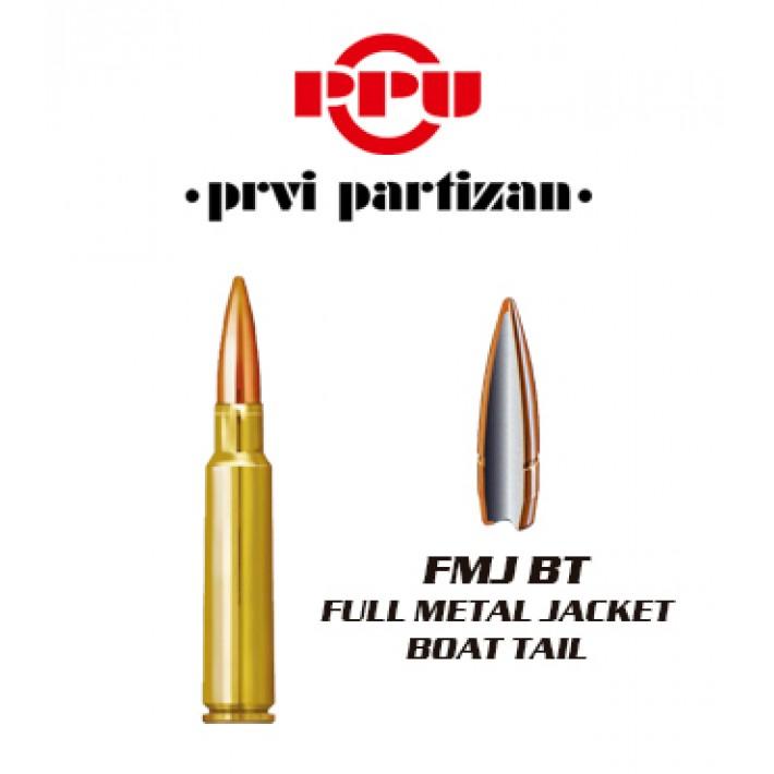 Cartuchos Prvi Partizan 7.5x55 Suizo 174 grains FMJBT