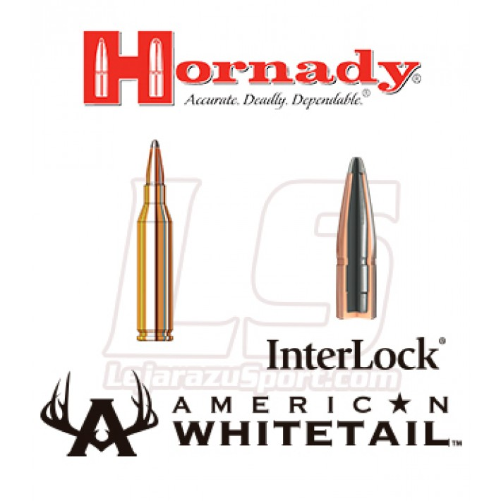 Cartuchos Hornady American Whitetail .243 Winchester 100 grains Interlock AW