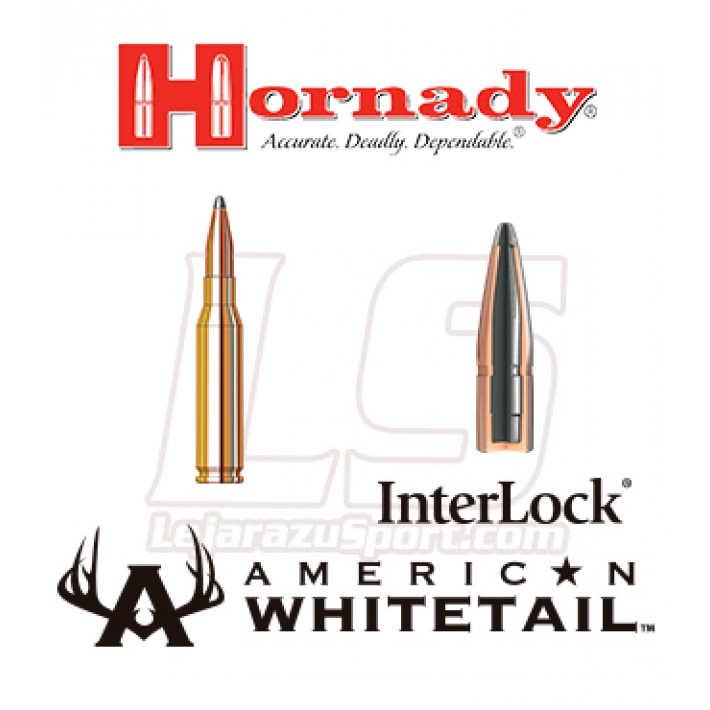 Cartuchos Hornady American Whitetail 7mm-08 Remington 139 grains Interlock SP