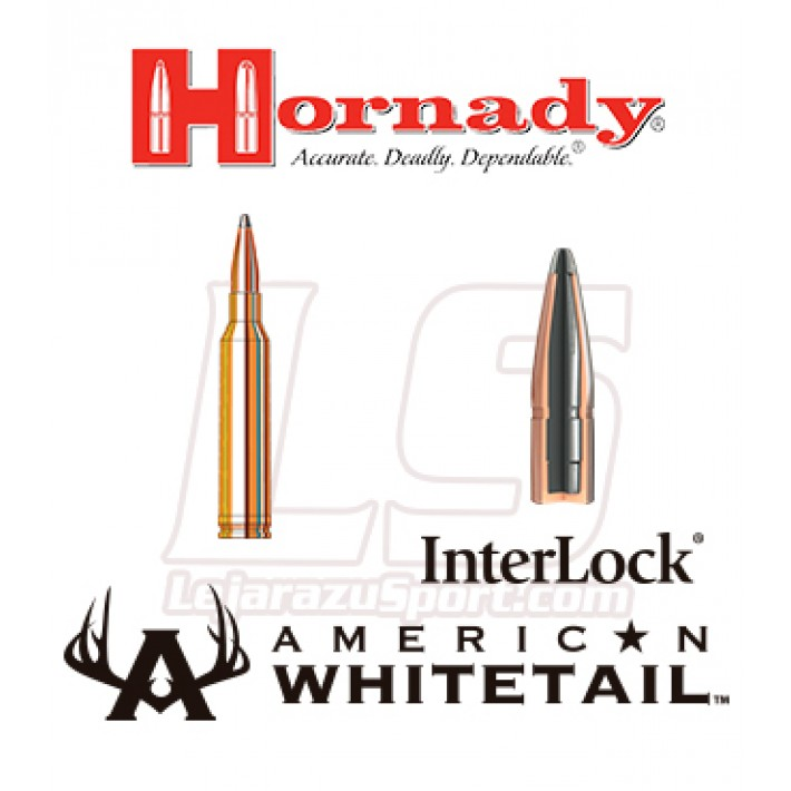 Cartuchos Hornady American Whitetail 7mm Remington Magnum 154 grains Interlock AW