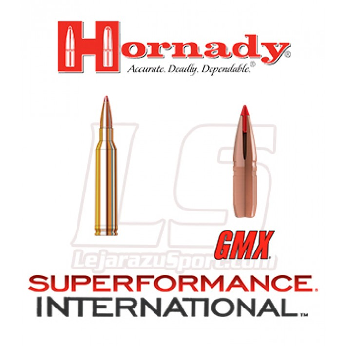Cartuchos Hornady Superformance International 7mm Remington Magnum 140 grains GMX