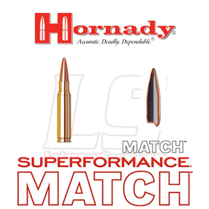 Cartuchos Hornady Superformance Match .308 Winchester 178 grains BTHP
