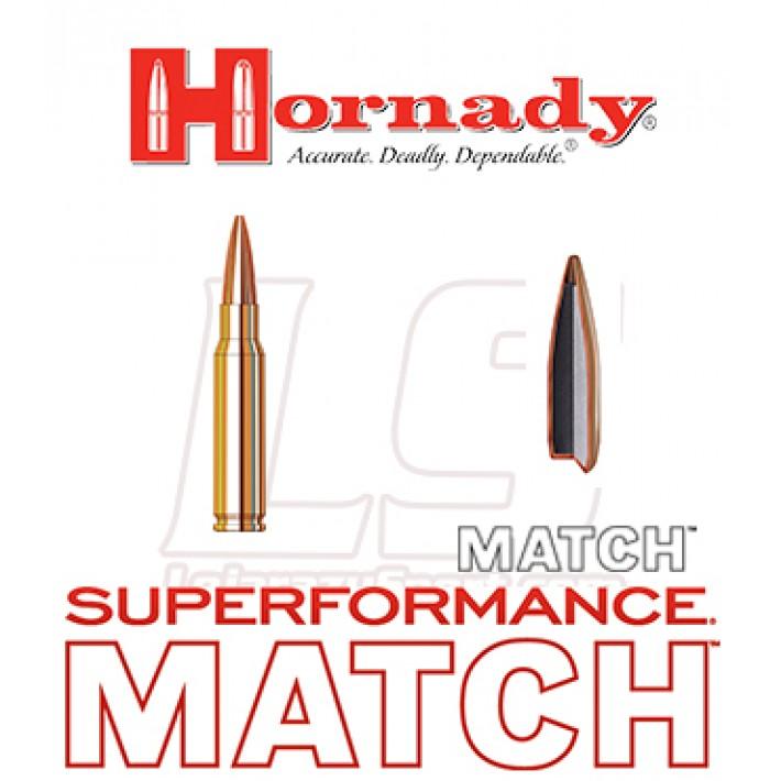 Cartuchos Hornady Superformance Match .308 Winchester 178 grains BTHP