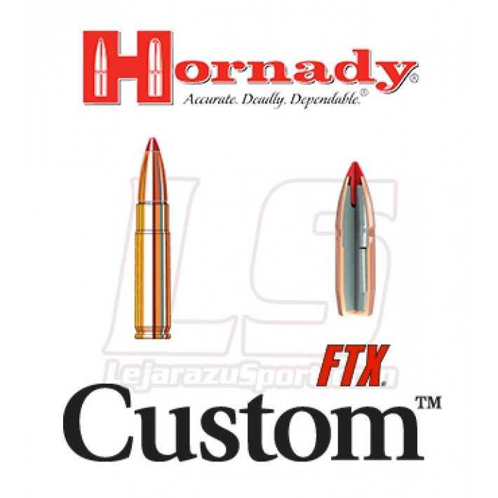 Cartuchos Hornady Custom .300 Blackout 135 grains FTX