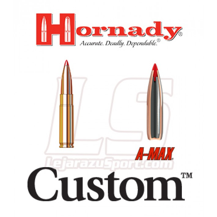 Cartuchos Hornady Custom .300 Whisper / BlackOut 208 grains A-Max