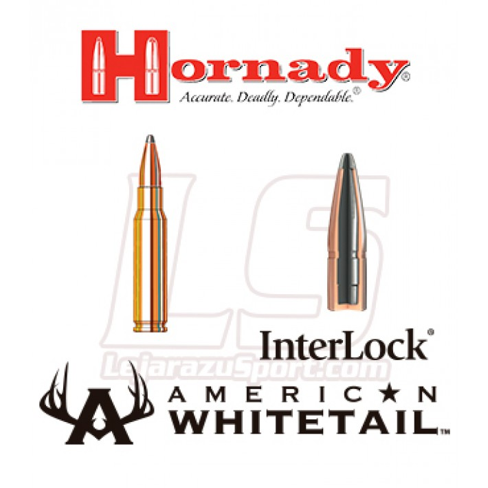 Cartuchos Hornady American Whitetail .308 Winchester 165 grains Interlock SP