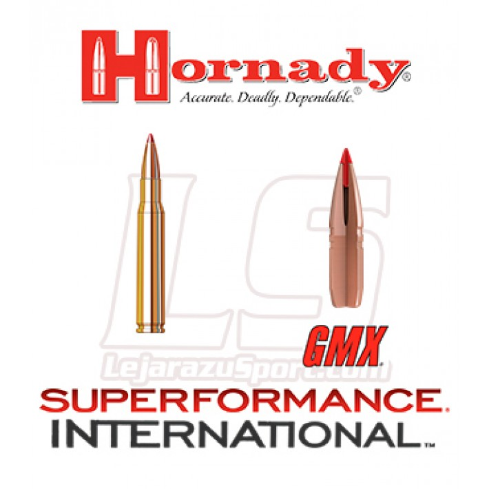 Cartuchos Hornady Superformance International .30-06 Springfield 165 grains GMX