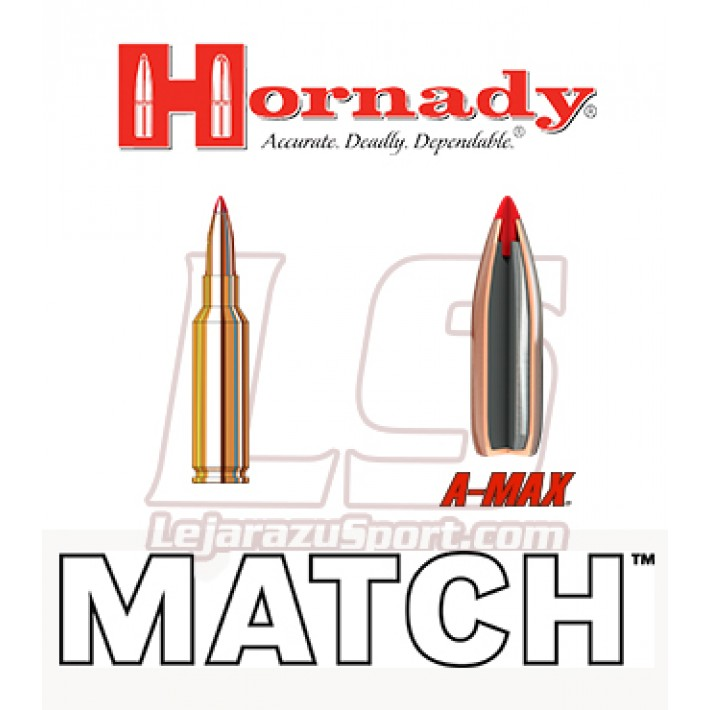 Cartuchos Hornady Match 6.5 Creedmoor 120 grains A-Max