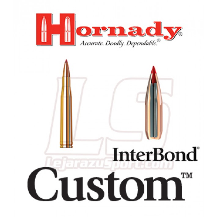 Cartuchos Hornady Custom .300 Holland & Holland Magnum 180 grains InterBond