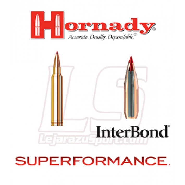 Cartuchos Hornady Superformance .300 Winchester Magnum 180 grains InterBond