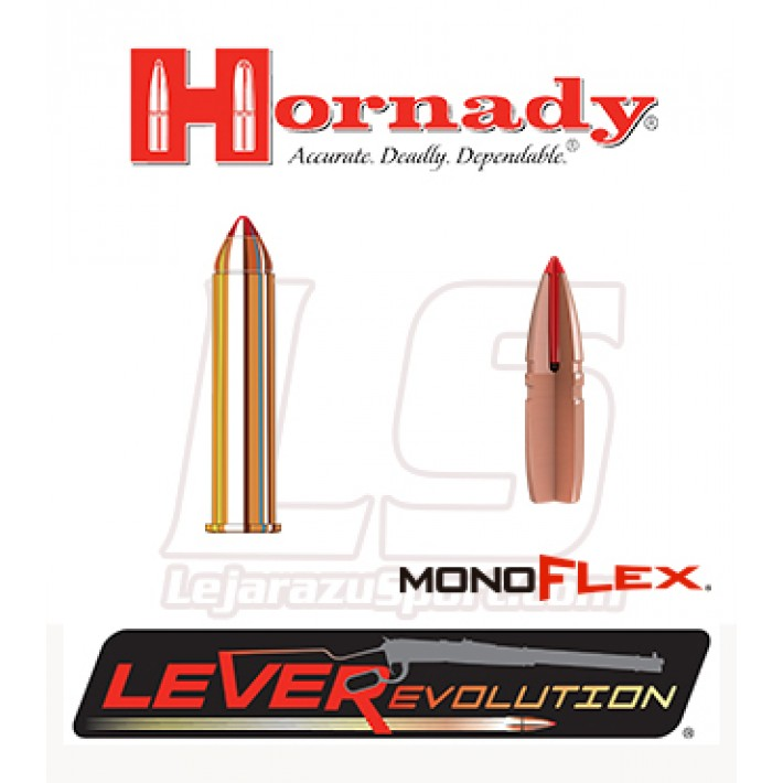 Cartuchos Hornady LeverEvolution .45-70 Government 250 grains Monoflex
