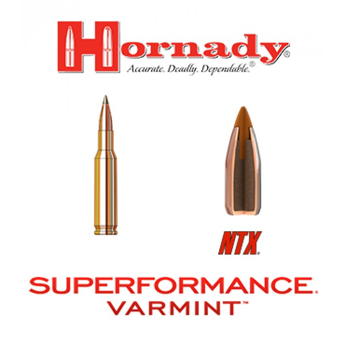 Cartuchos Hornady Superformance Varmint .222 Remington 35 grains NTX