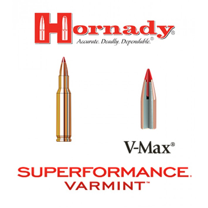 Cartuchos Hornady Superformance Varmint .222 Remington 50 grains V-Max