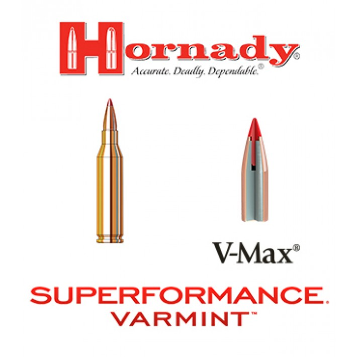 Cartuchos Hornady Superformance Varmint .243 Winchester 75 grains V-Max