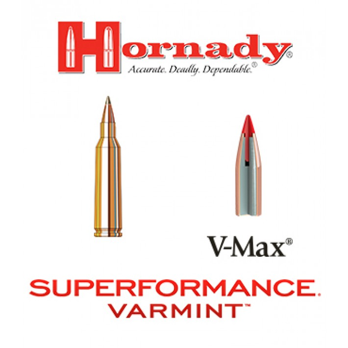 Cartuchos Hornady Superformance Varmint .243 Winchester 58 grains V-Max