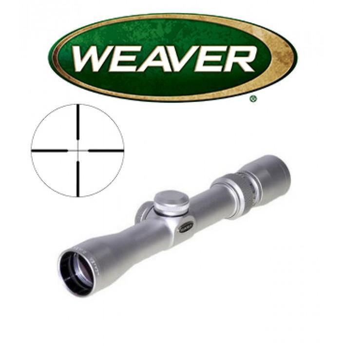 Visor Weaver Classic Handgun 2,5-8x28 cromado de 1'' con retícula Dual X