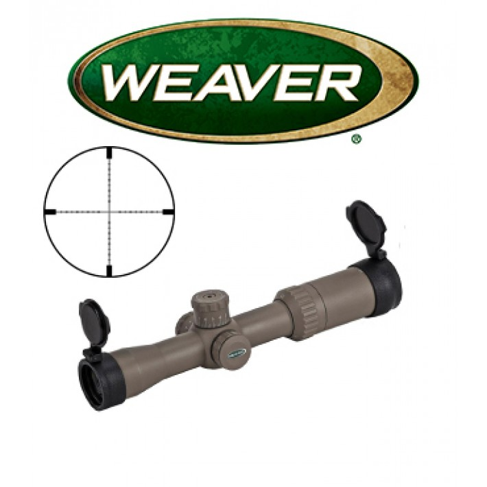 Visor Weaver Kaspa Tactical 3-12x44 Dark Earth de 30mm con retícula iluminada EMDR