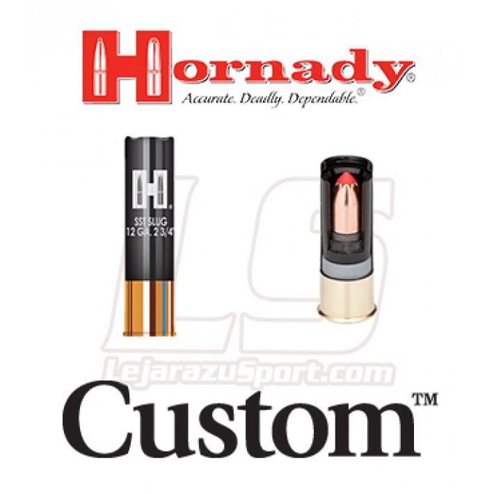 Cartuchos Hornady Custom calibre 12 con sabot y punta FTX de 300 grains