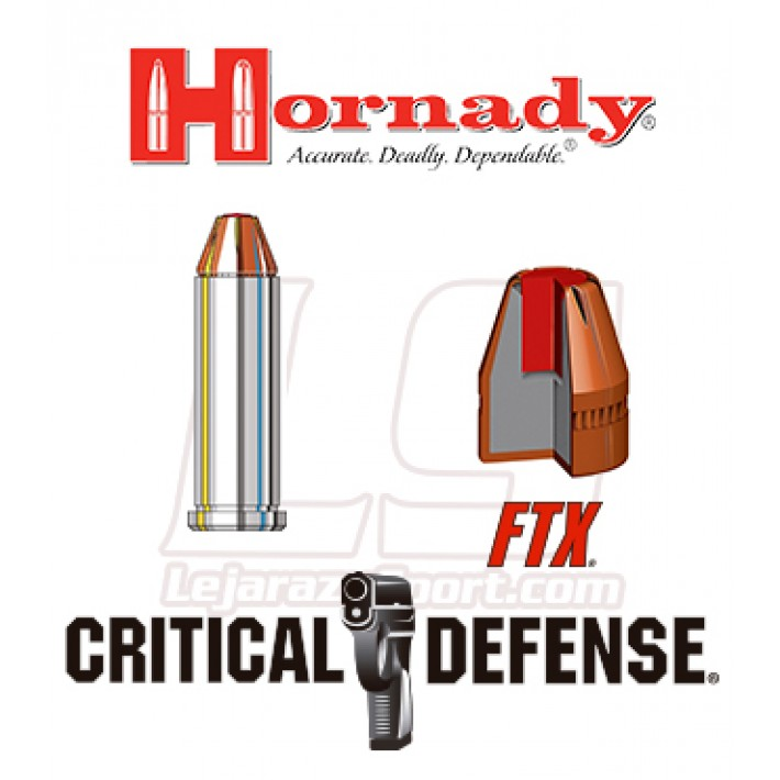 Cartuchos Hornady Critical Defense .38 Special +P 110 grains FTX