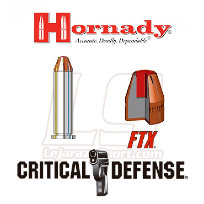 Cartuchos Hornady Critical Defense .357 Magnum 125 grains FTX