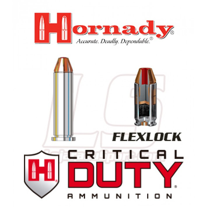Cartuchos Hornady Critical Duty .357 Magnum 135 grains FlexLock
