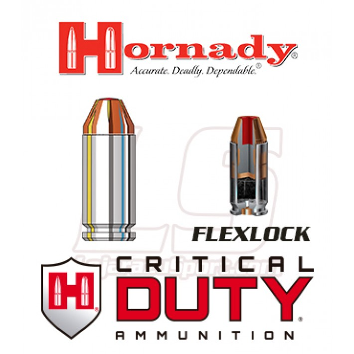 Cartuchos Hornady Critical Duty .40 S&W 175 grains FlexLock