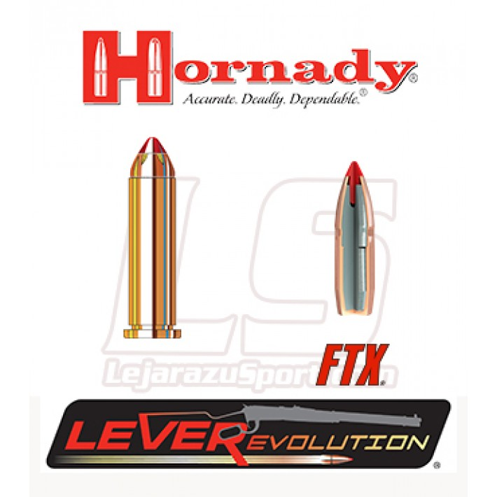 Cartuchos Hornady LeverEvolution .357 Magnum 140 grains FTX