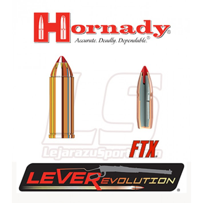 Cartuchos Hornady LeverEvolution .45 Long Colt 225 grains FTX