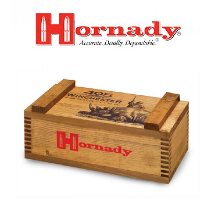Cajón de madera para munición Hornady .405 Winchester Ammo Box