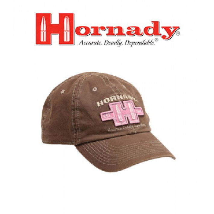 Gorra Hornady marrón y rosa Established 1949