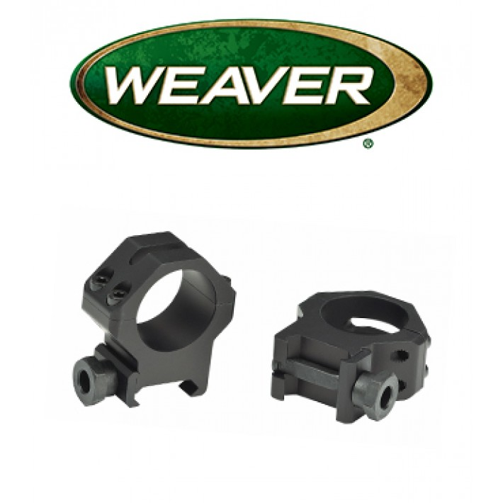 Anillas Weaver 4 Hole Tactical Picatinny de 30mm mate - Bajas